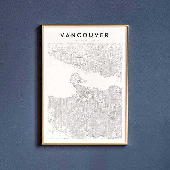 Vancouver, British Columbia map poster