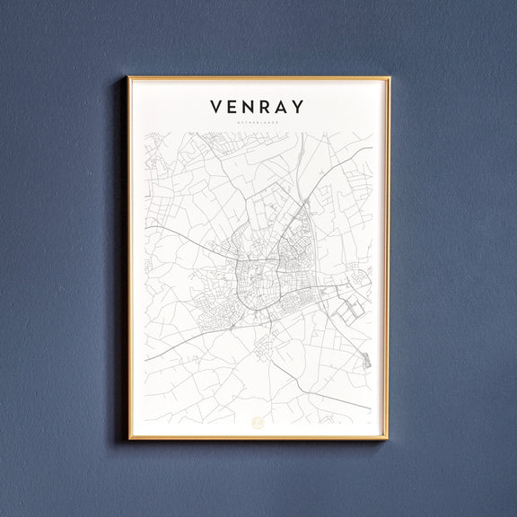 Venray, Netherlands map poster
