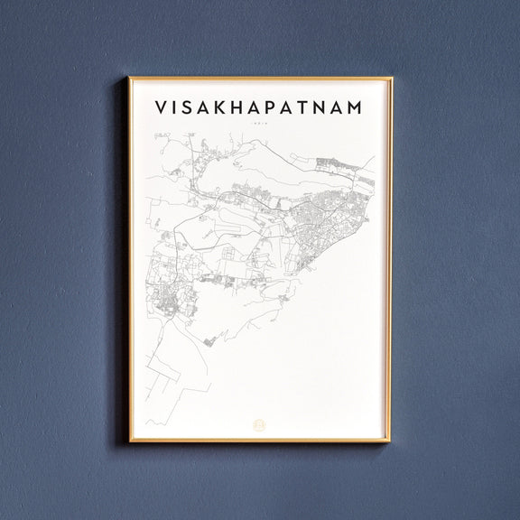 Visakhapatnam, India map poster
