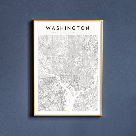 Washington, District of Columbia map poster