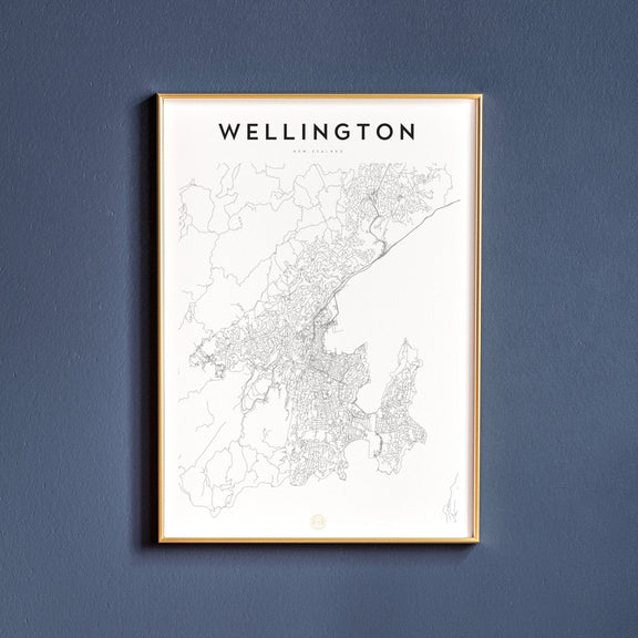 Wellington, New Zealand map poster