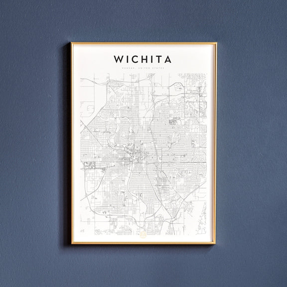 Wichita, Kansas map poster