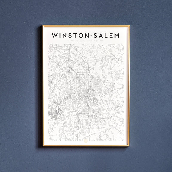 Winston-Salem, North Carolina map poster