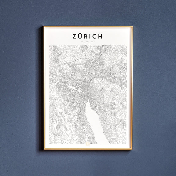 Zürich, Switzerland map poster