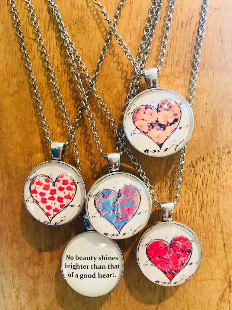a good heart reversible necklace