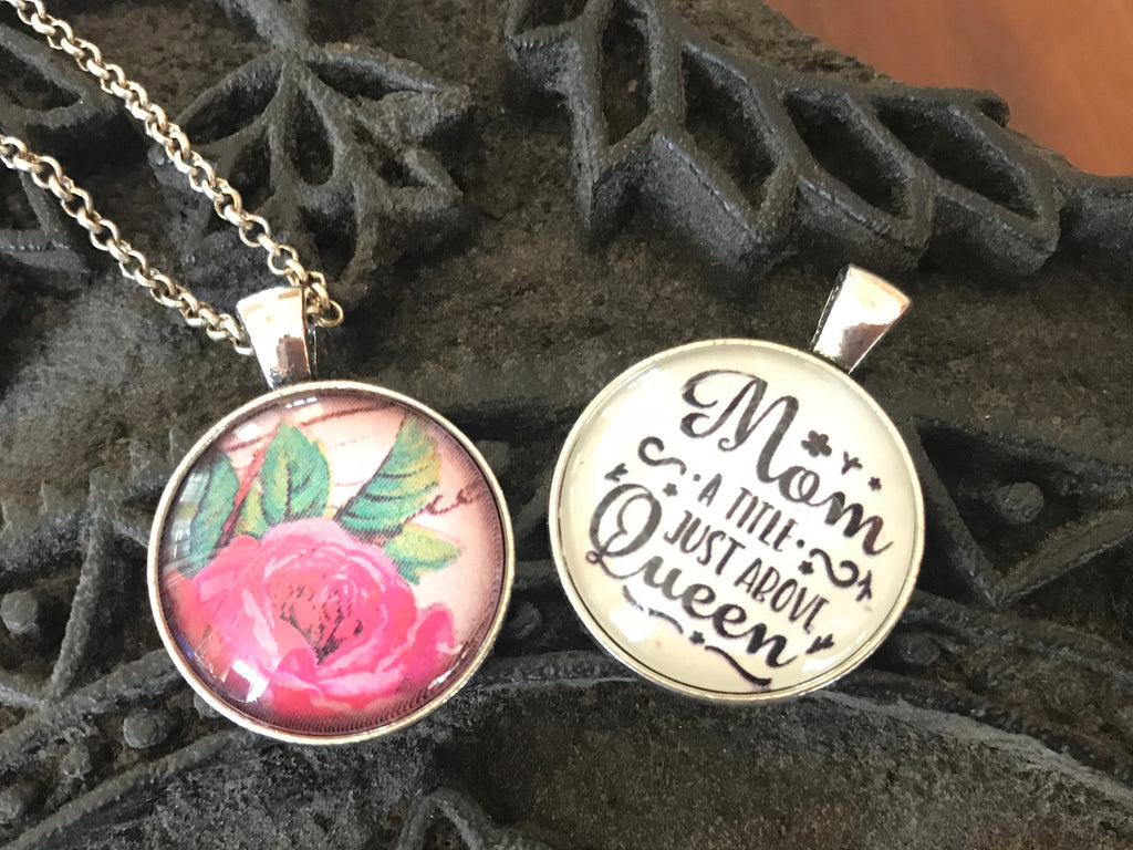 mother's day reversible rose necklace
