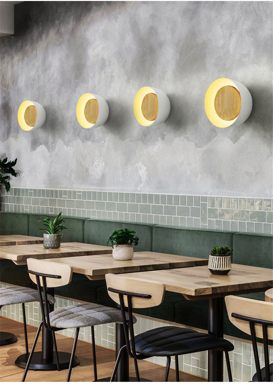 Derna Wooden Modern Wall Light
