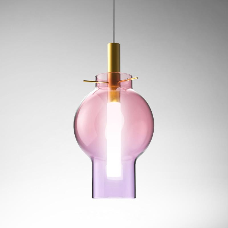 Lia Color Glass Pendant Light