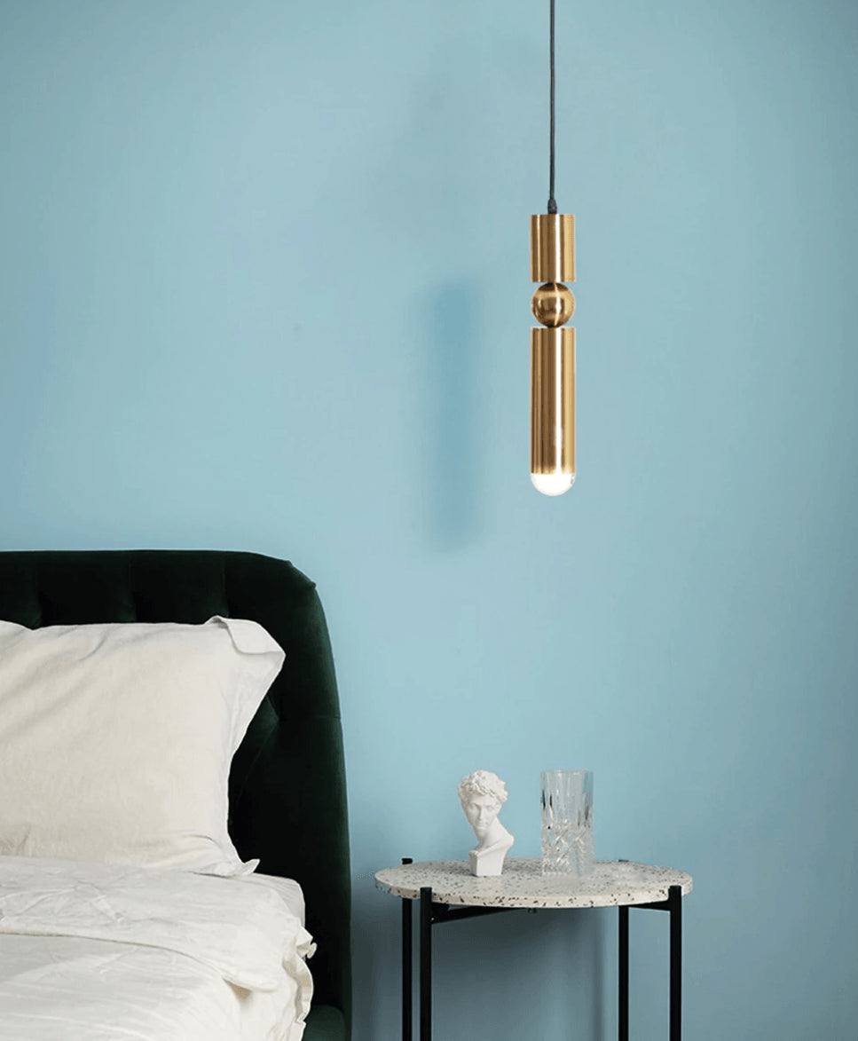 Beret Minimal Brass Pendant Light