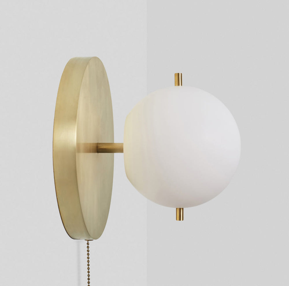 Clari Brass Modern Wall Light