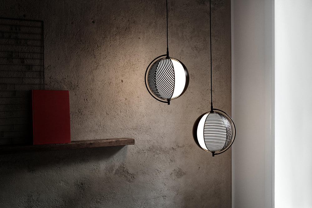 Drena Abstract Caged Sphere Pendant Light