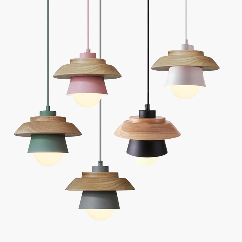 Rae Nordic Wooden Pendant Light