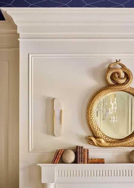 Detri Brass Stone Wall Light
