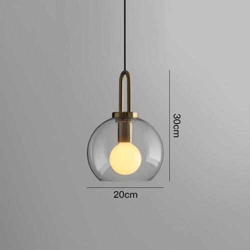 Iona Glass Globe Pendant Light