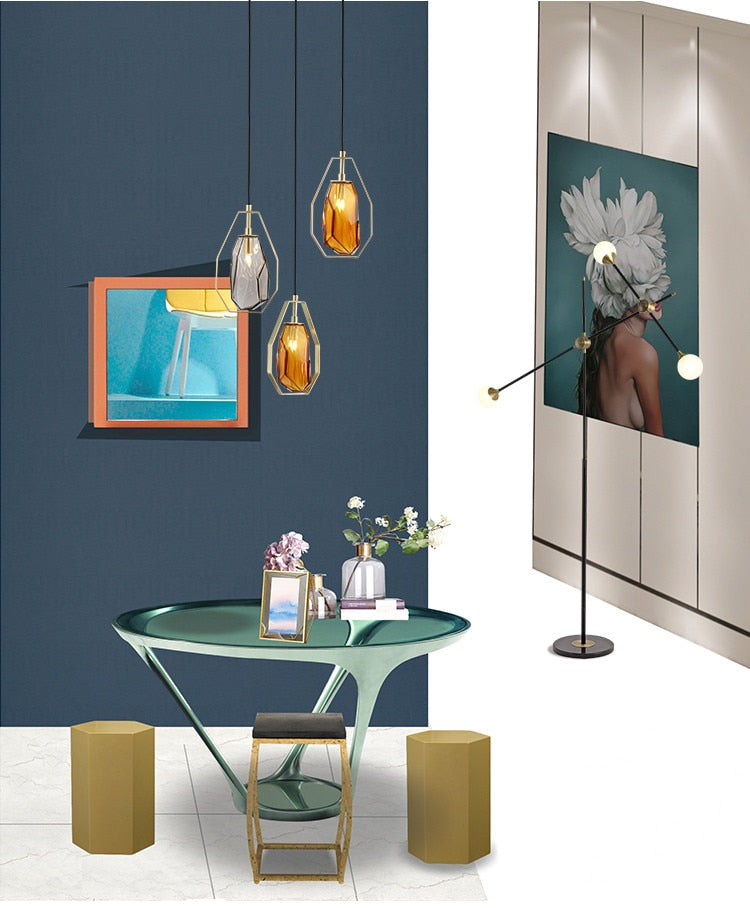 Reini Glass Modern Pendant Light