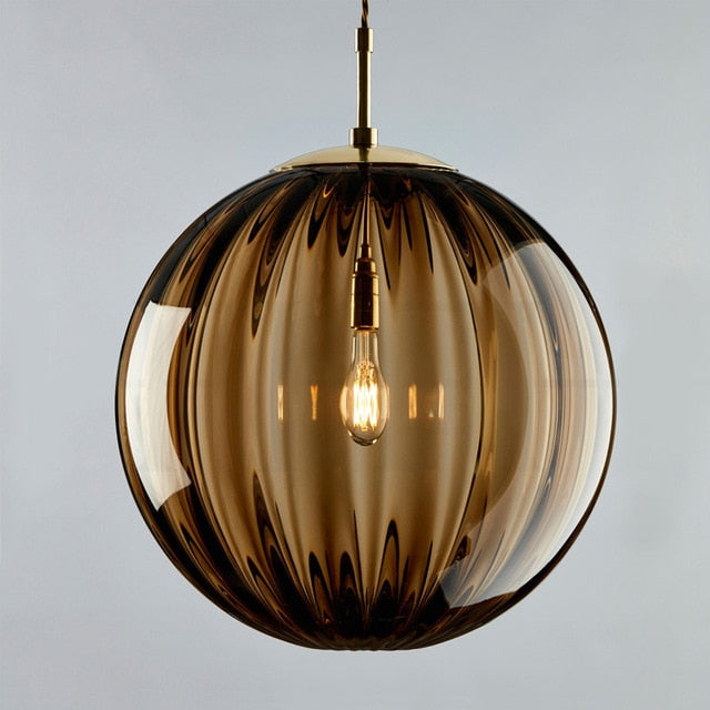 Domie Globe Glass Pendant Light