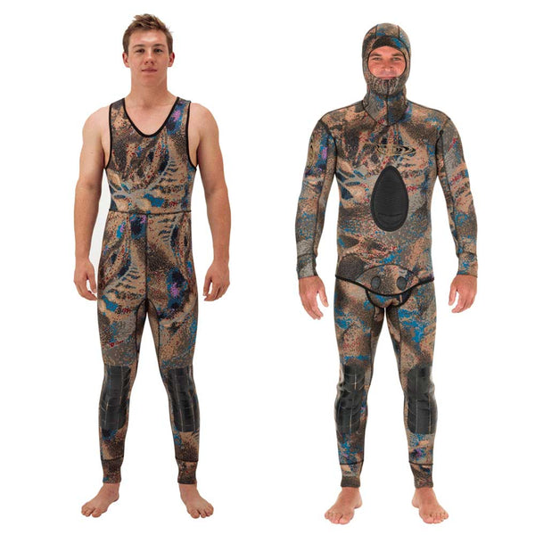 Covi-tek© 5mm 2pc. Wetsuit (Hooded Top | Farmer John Bottom)