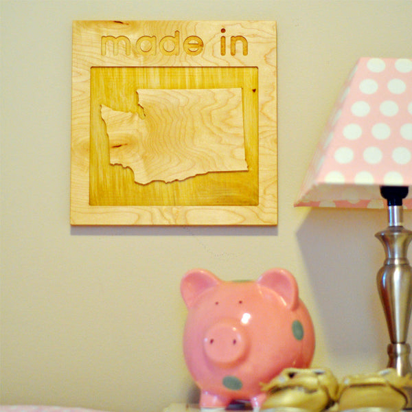 """made in"" Wall Decor"