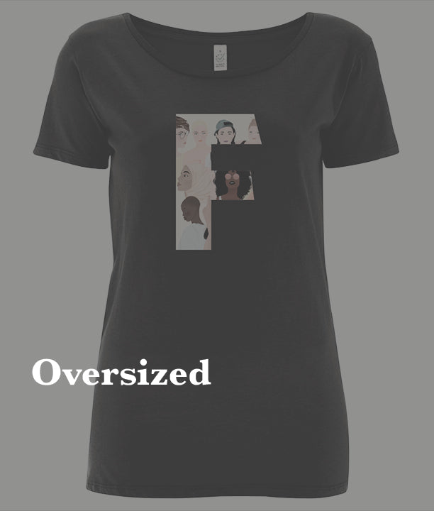 Shop All Over-Sized Feminist T-Shirts