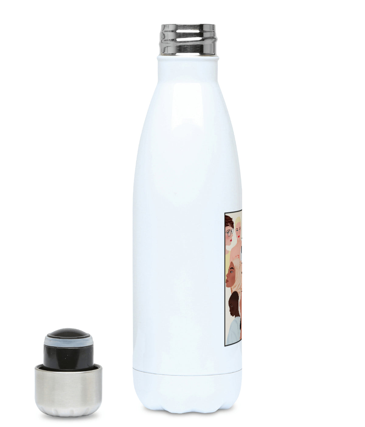 Feminist Water Bottle - F Carola Marin - Left