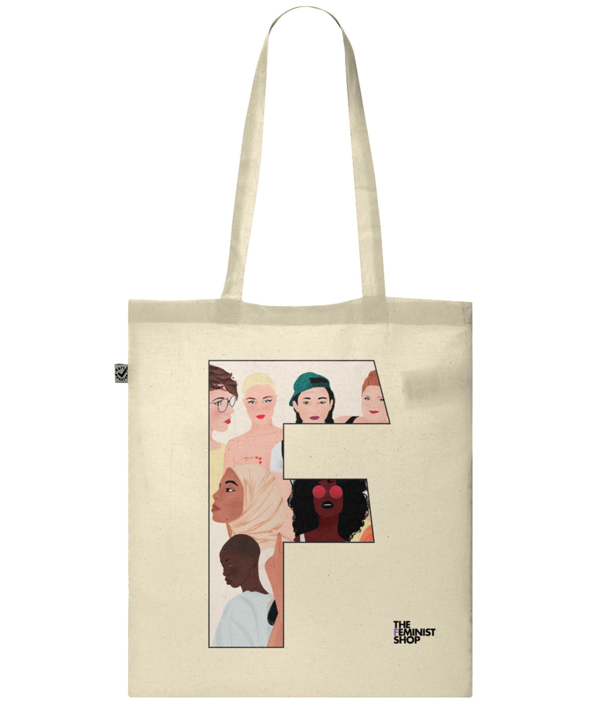 Organic Cotton Feminist Tote Bag - F by Carola Marin