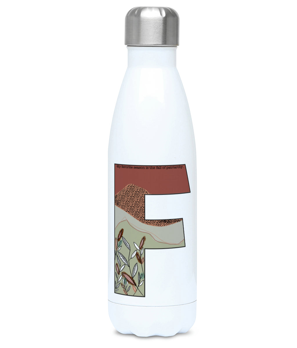 Feminist Water Bottle - F Elena  - Front