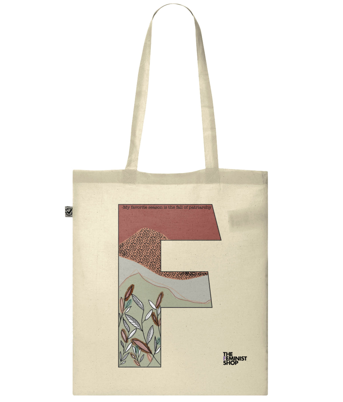 F Elena  Organic Combed Cotton Tote Bag Natural