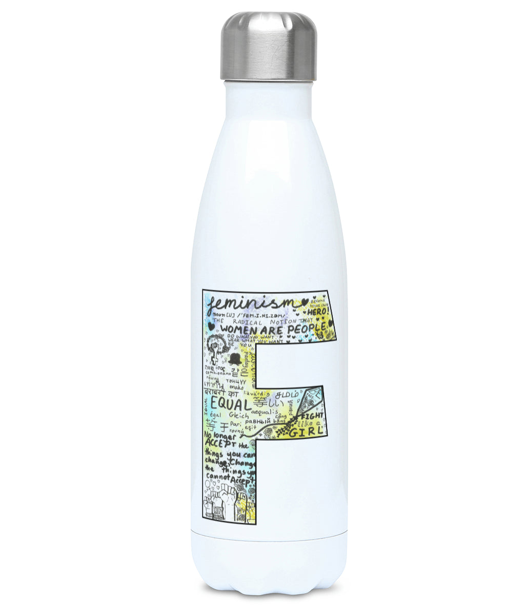 Feminist Water Bottle - F Olivia  - Front