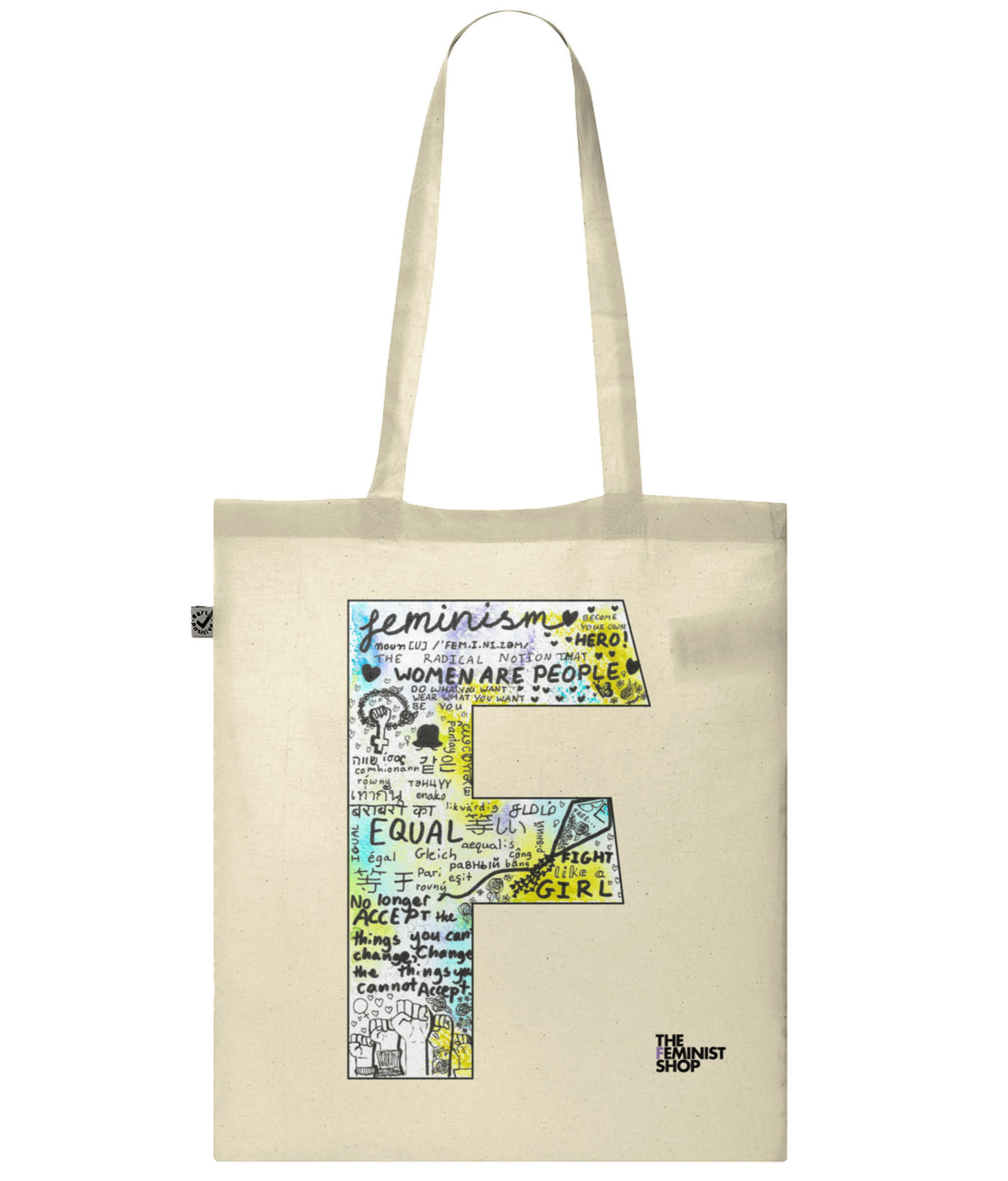 Organic Cotton Feminist Tote Bag - F by Olivia