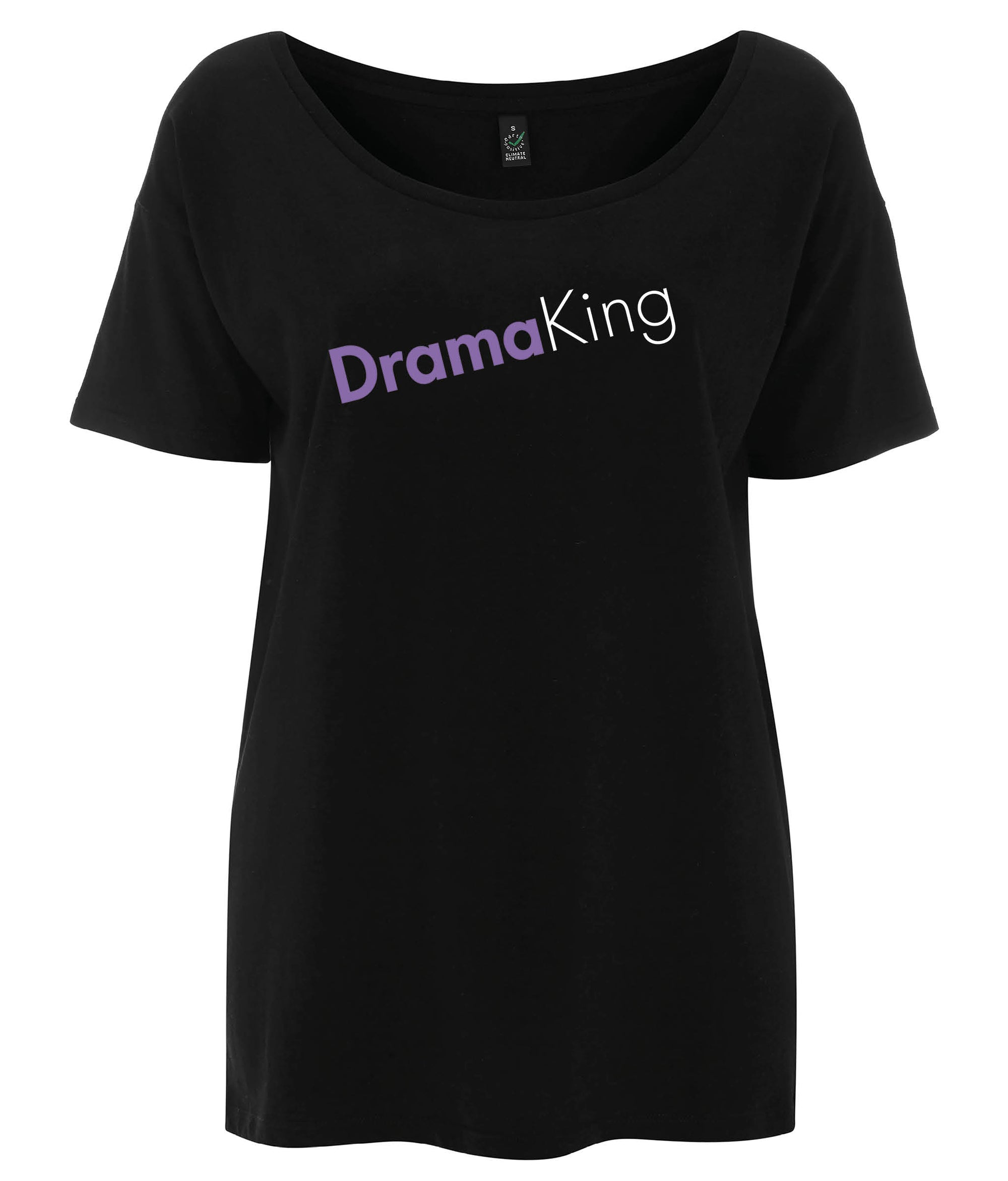 Drama King Tencel Blend Oversized Feminist T Shirt Black