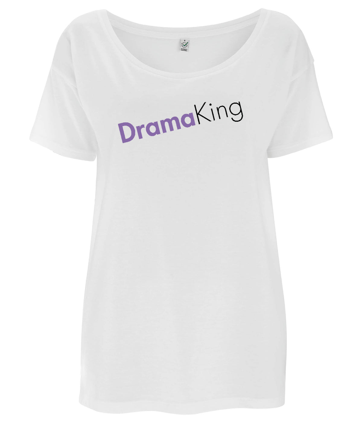 Drama King Tencel Blend Oversized Feminist T Shirt White