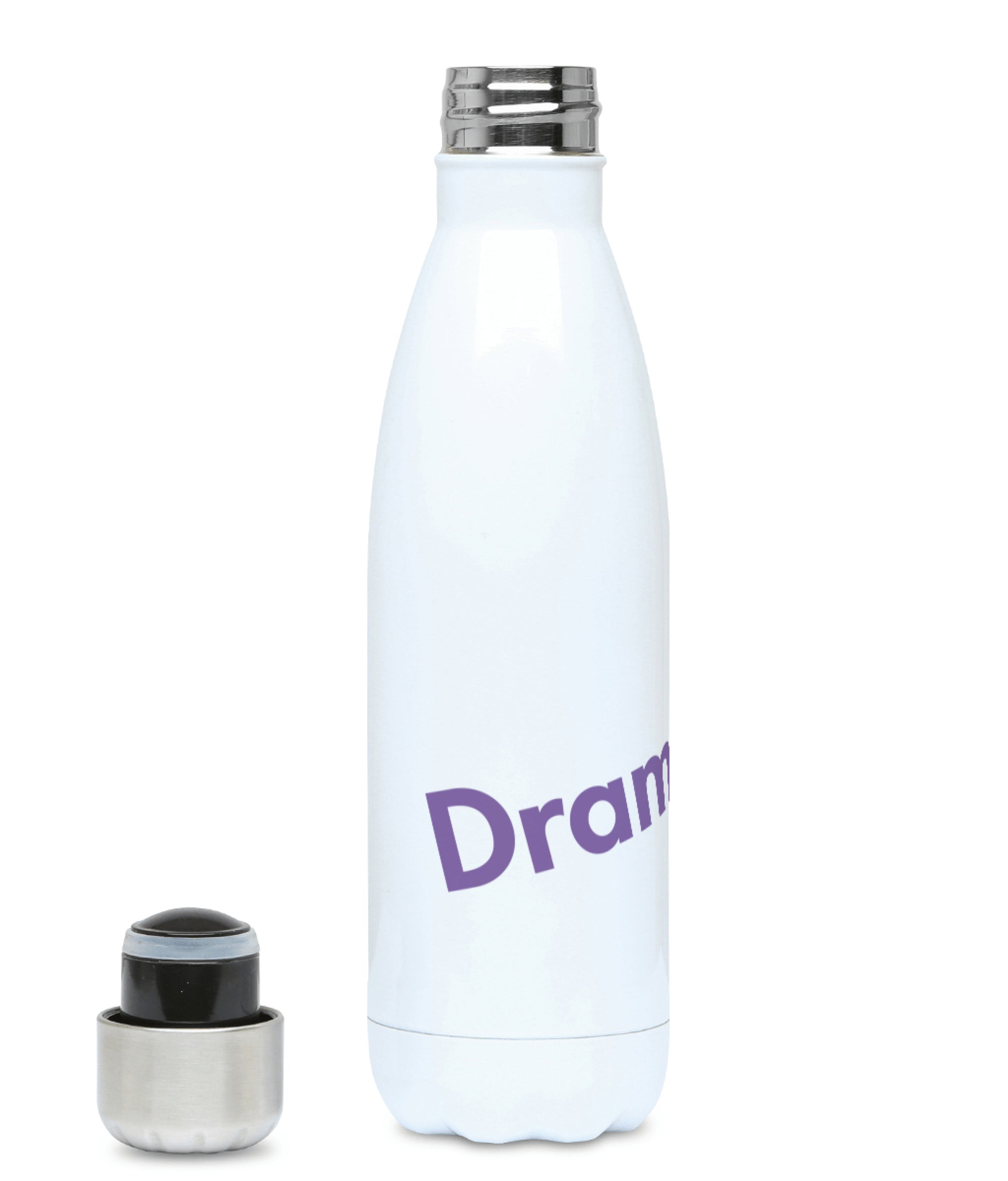Feminist Water Bottle - Drama King - Front
