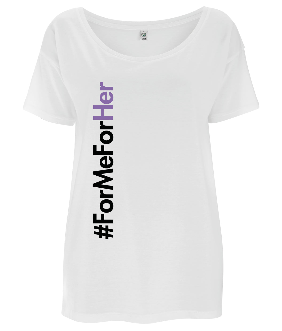 #ForMeForHer Tencel Blend Oversized Feminist T Shirt White