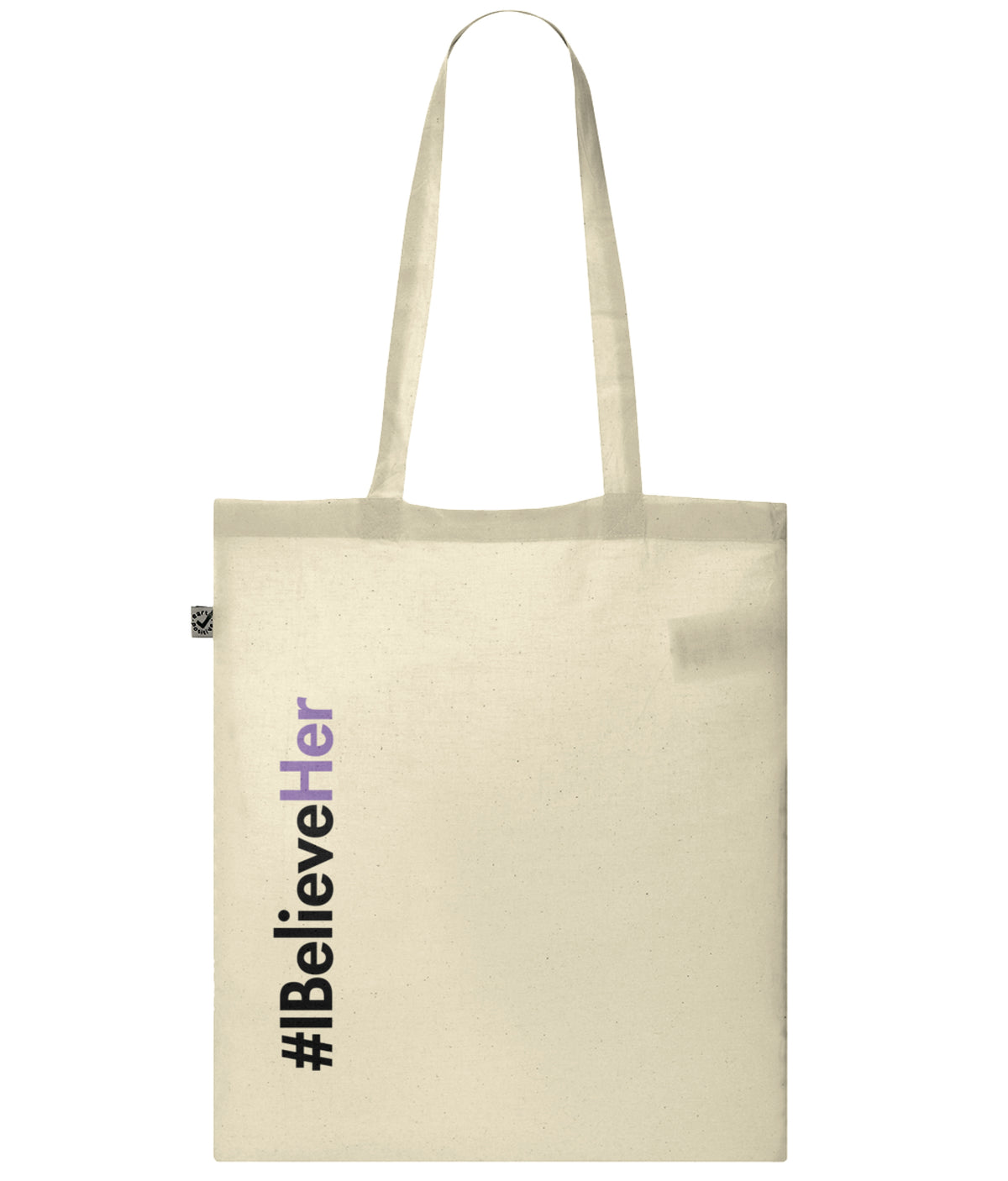 #IBelieveHer Organic Combed Cotton Tote Bag Natural