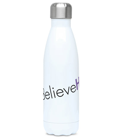 Feminist Water Bottle - #IBelieveHer - Front