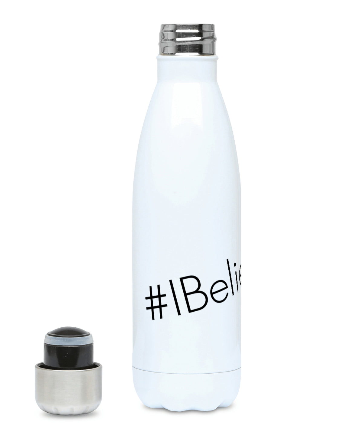 Feminist Water Bottle - #IBelieveHer - Left