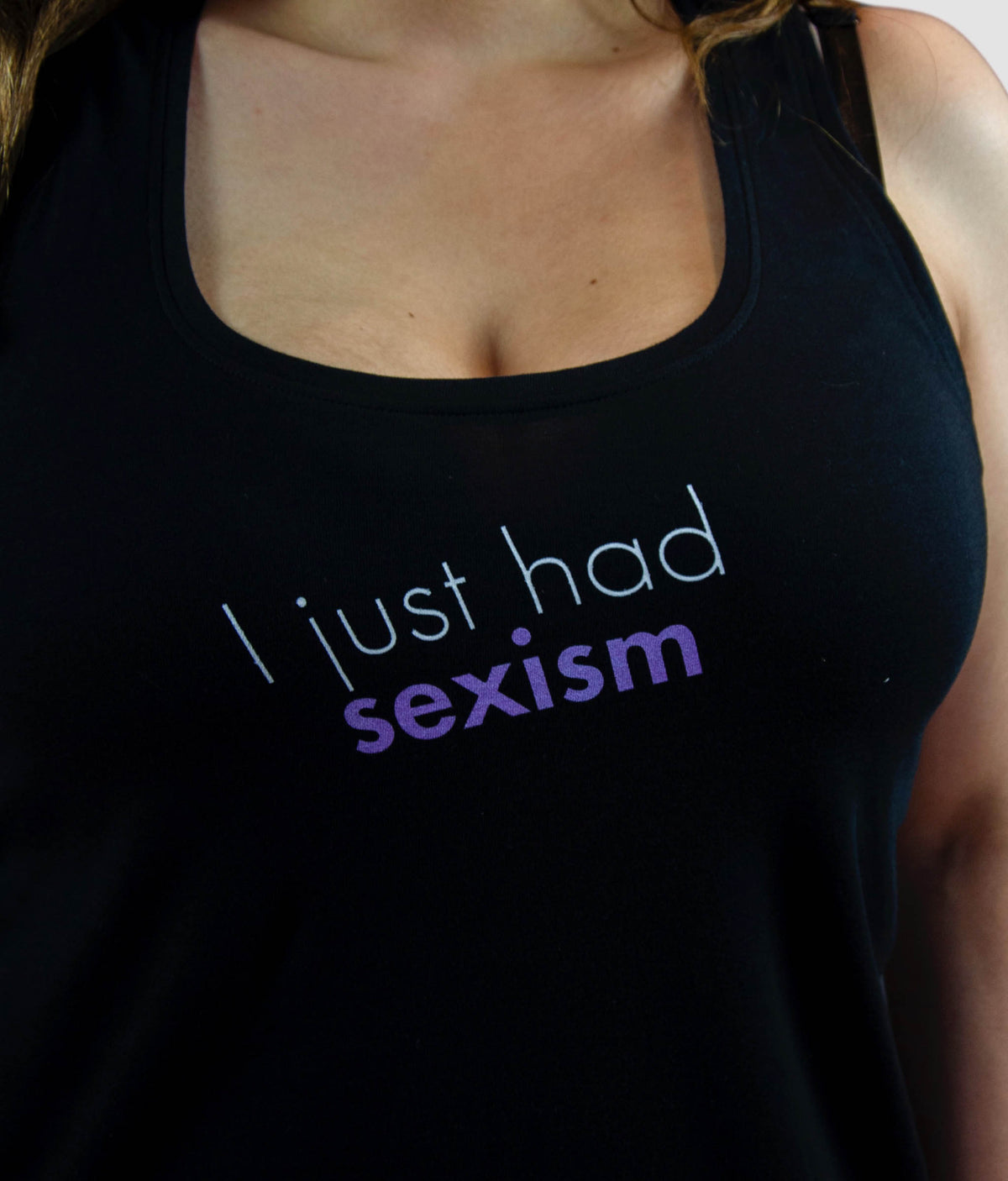 Organic Feminist Racerback Vest - I Just Had Sexism, Bold