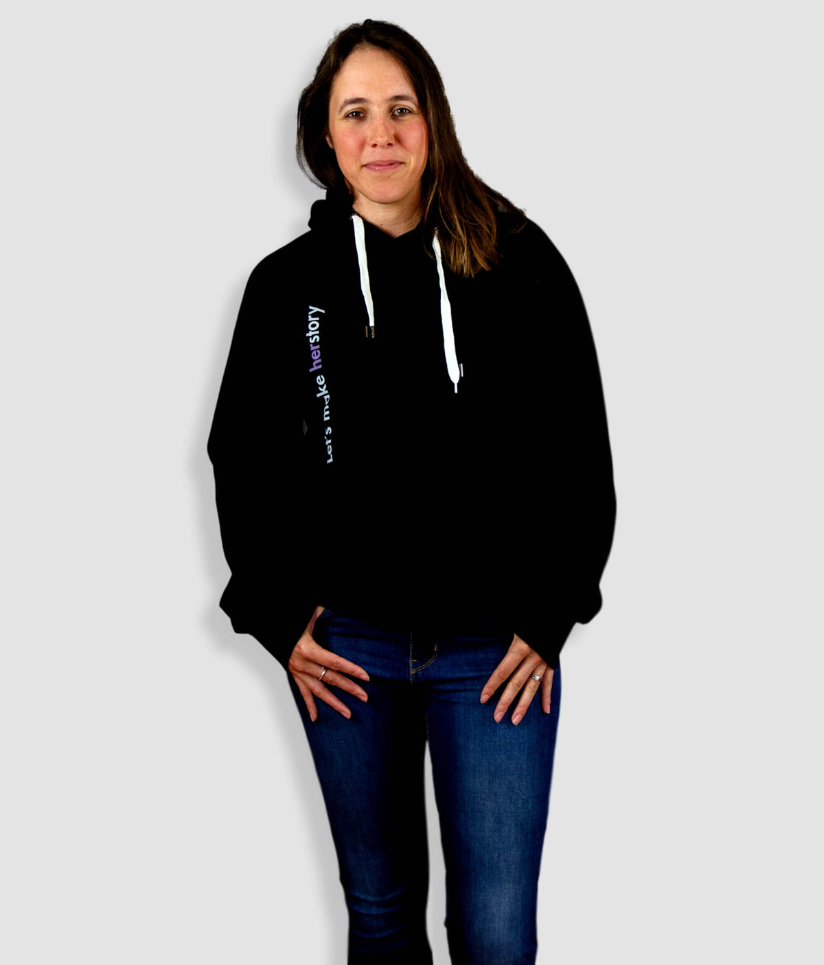 Unisex Organic Cotton Feminist Hoodie - Let's Make Herstory, 90Degrees
