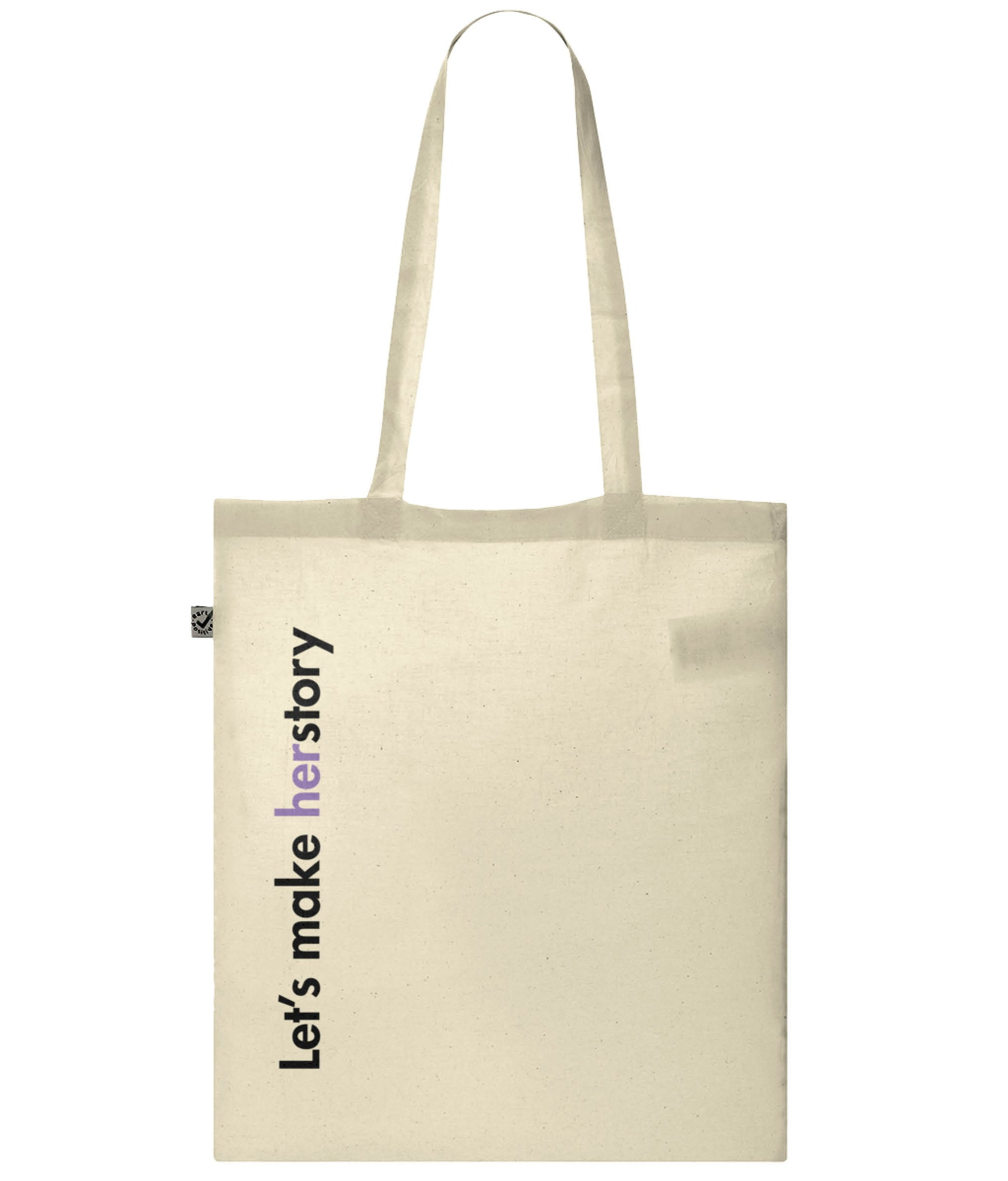 Let's Make Herstory Organic Combed Cotton Tote Bag Natural