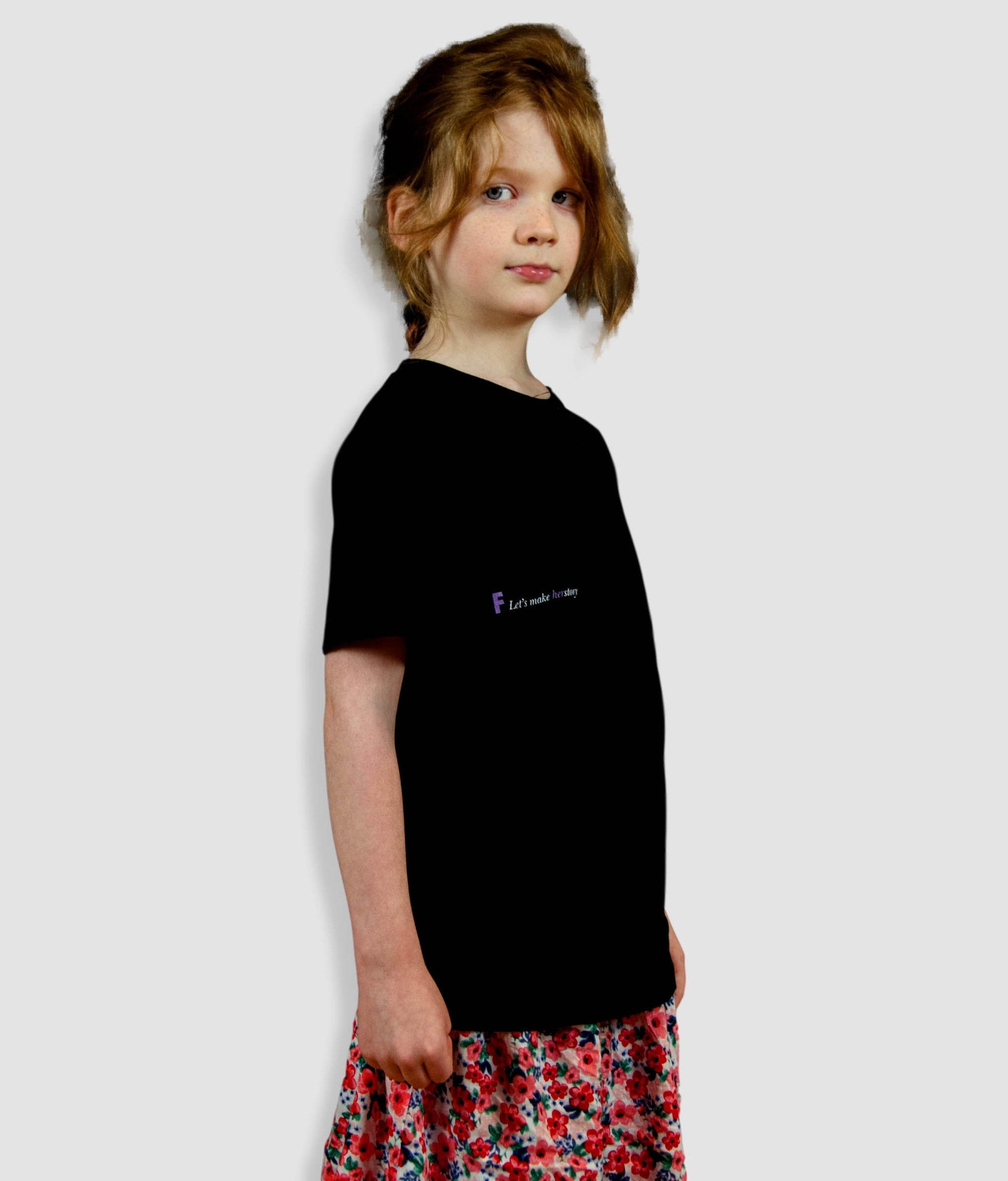 Kids Organic Feminist T Shirt - Let's Make Herstory, Whisperer