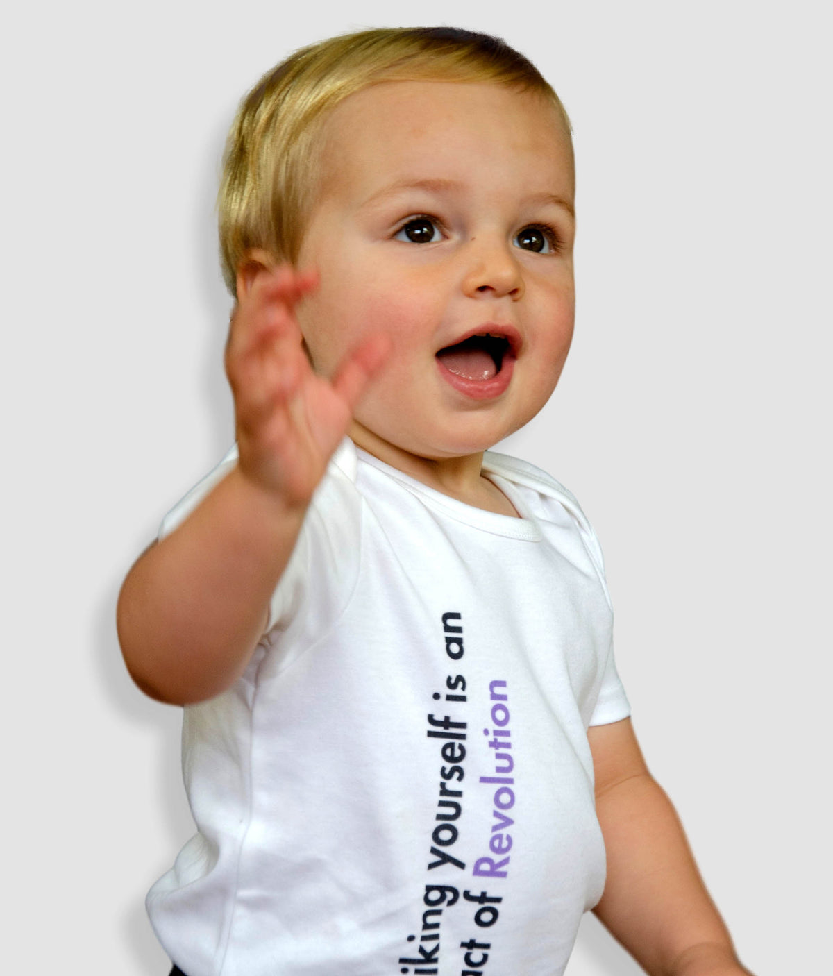 Organic Cotton Feminist Babygrow - Liking Yourself Is An Act Of Revolution, 90Degrees