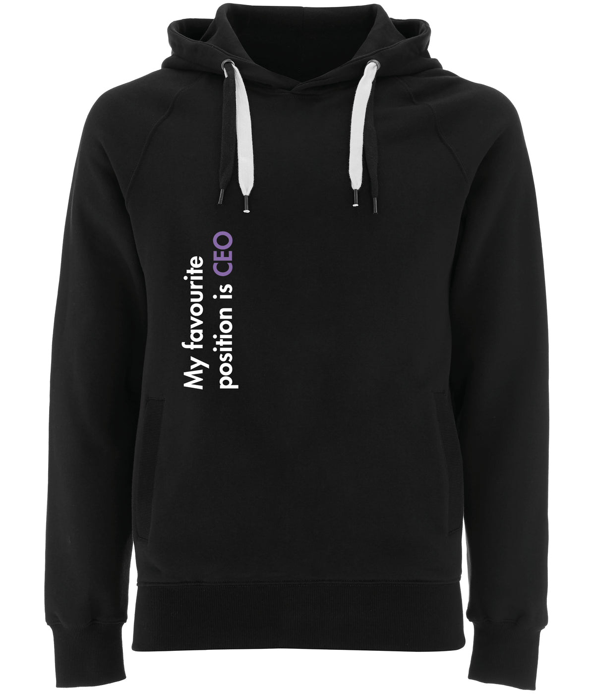 My Favourite Position Is CEO Organic Combed Cotton Hoodie Black