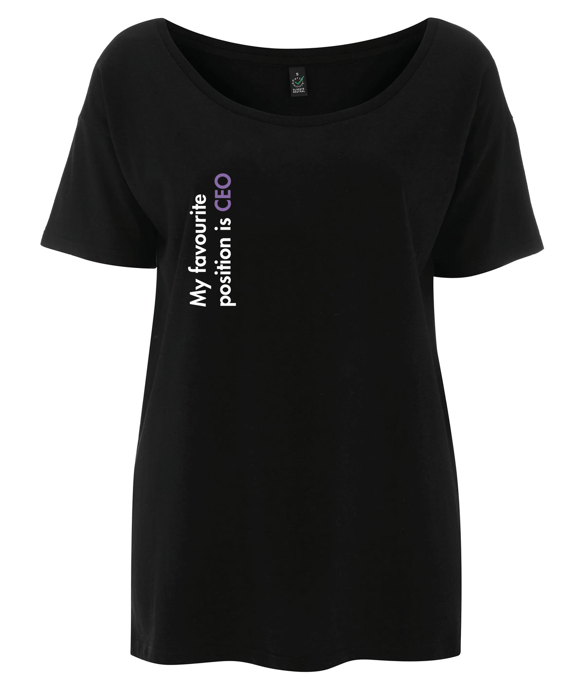 My Favourite Position Is CEO Tencel Blend Oversized Feminist T Shirt Black