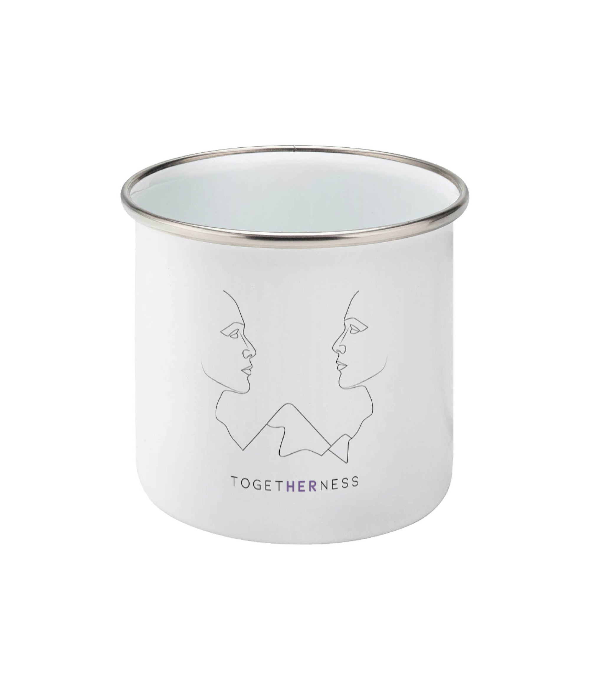 Feminist Enamel Mug - Togetherness - Front