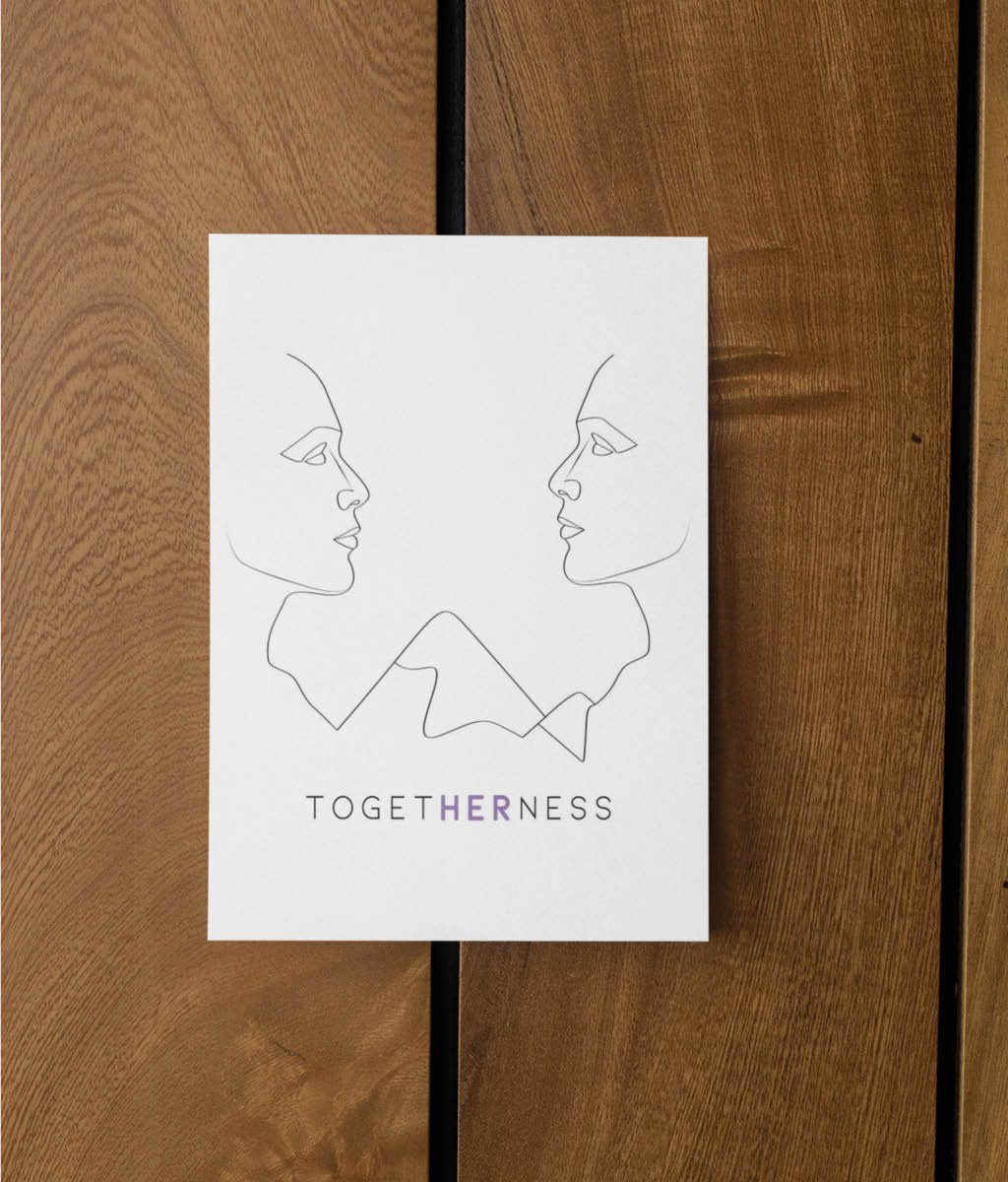 Feminist Postcard - Togetherness