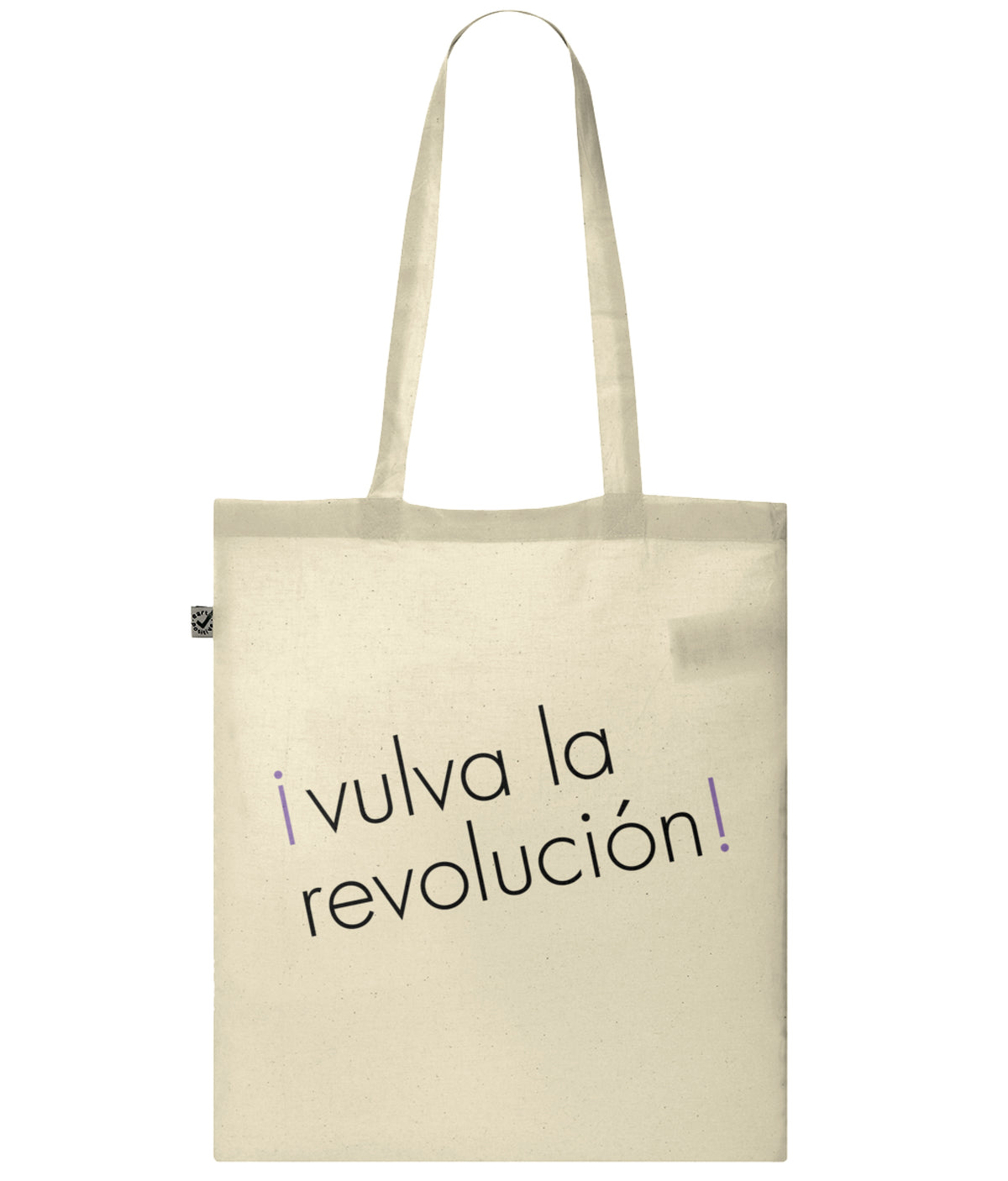 Vulva La Revolucion Organic Combed Cotton Tote Bag Natural