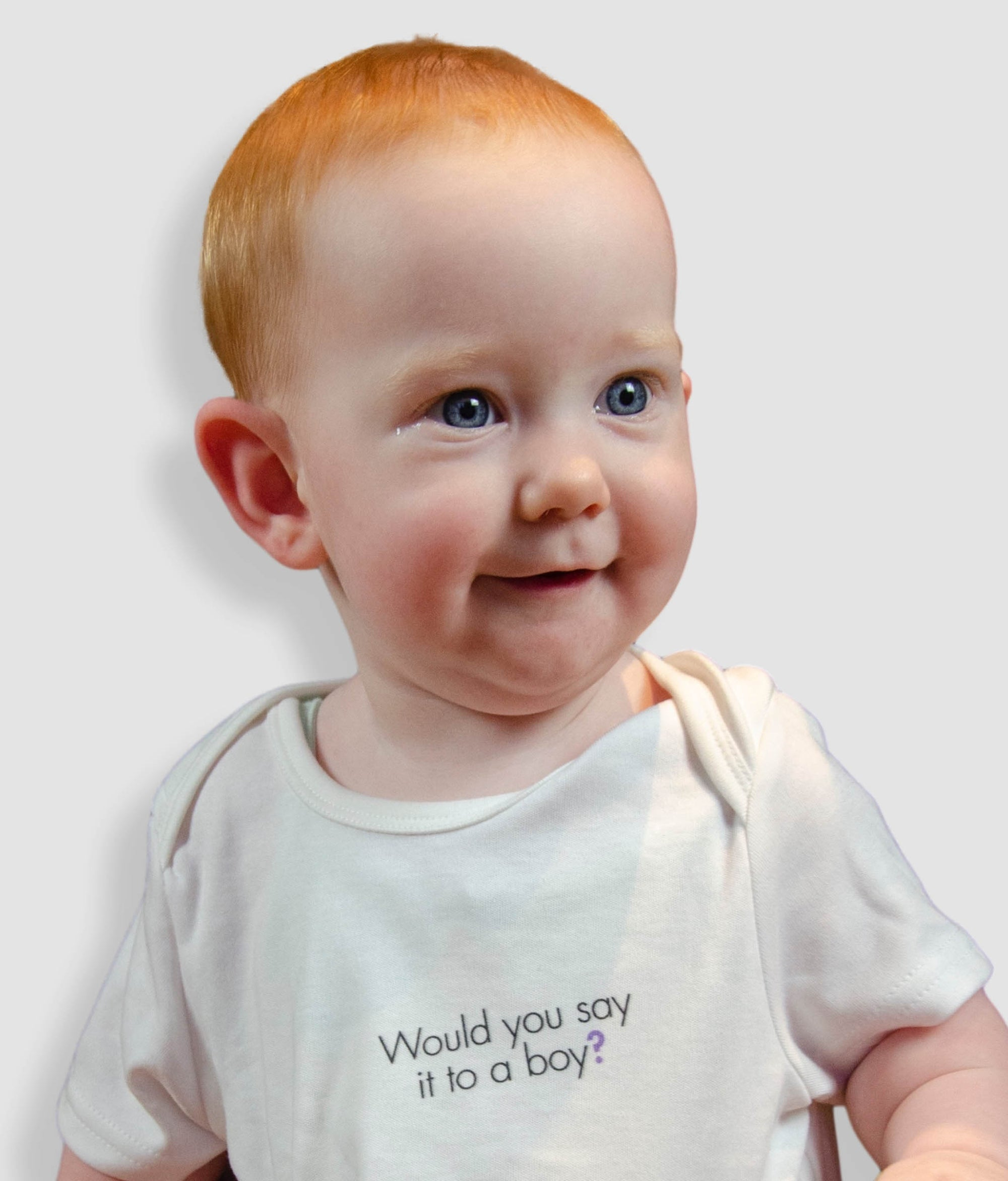 Organic Cotton Feminist Babygrow - Would You Say It To A Boy, Bold