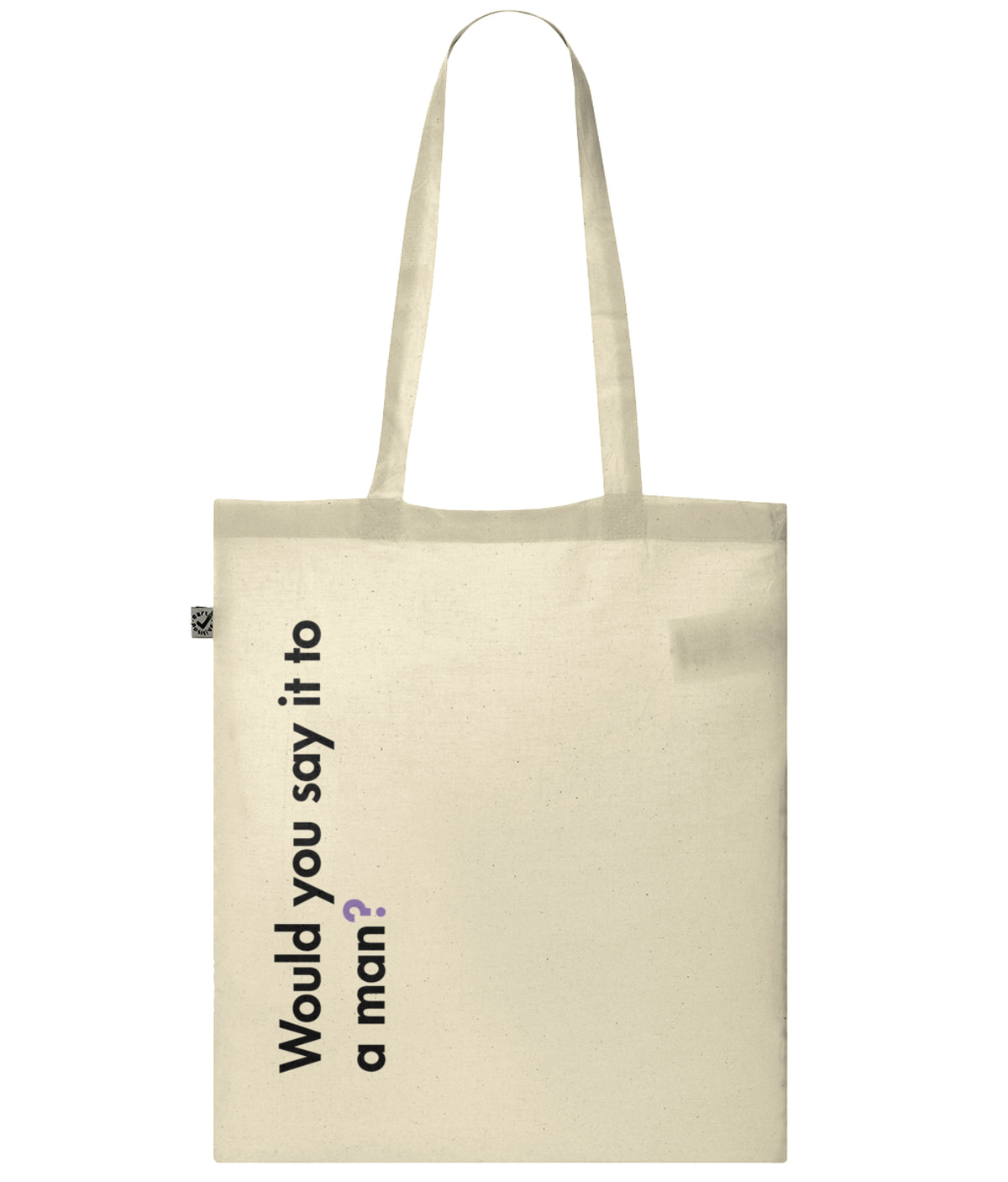 Would You Say It To A Man Organic Combed Cotton Tote Bag Natural