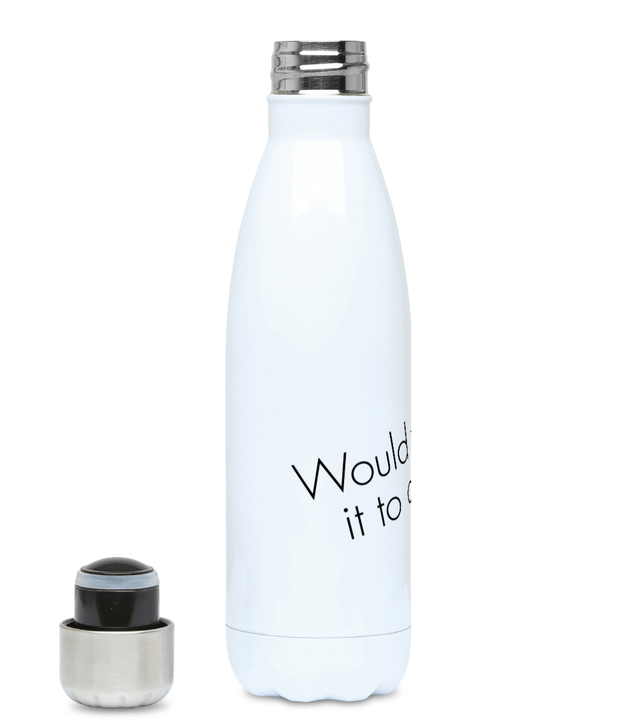 Feminist Water Bottle - Would You Say It To A Man - Front