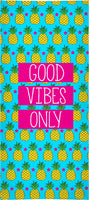 Good Vibes Only Pineapple Beach Towel